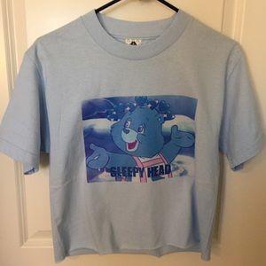 Sleepyhead Bear Graphic Tee Shirt